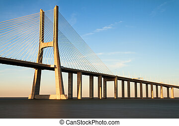 Vasco da gama sunset bridge