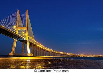 vasco, portugal, da, gama, lisboa, puente