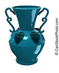 vase bleu
