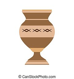 Vase decorative flower illustration pottery design...