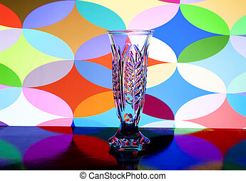 vase for flowers from glass