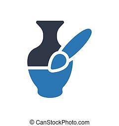 vase glyph color icon