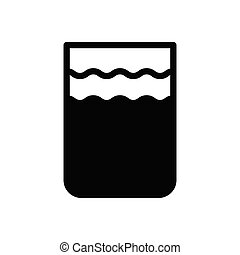 vase glyph flat icon