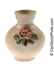 vase on white background