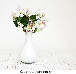 Vase with Apple blossoms