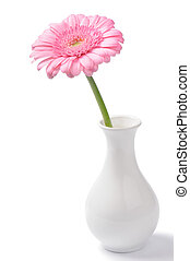 Vase with pink chrysanthemum
