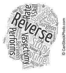 Vasectomy Reversal Success Stories text background wordcloud concept