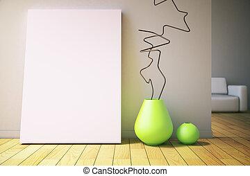 vaser, och, affisch