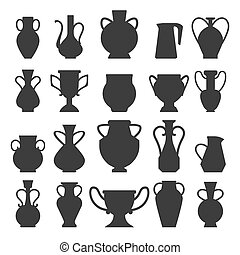Vases black silhouettes
