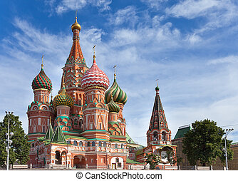 vasily, blazhennogo's, cathedral(st, basil's, cathedral), ., moscow., ロシア
