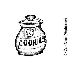 vaso biscotto, sketch.