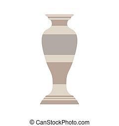 vaso, decorativo, flor, ilustração, cer㢭icas, desenho, decoração, experiência., isolado, arte, ícone, pote, cerâmico
