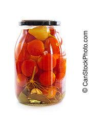 vaso, di, verdure marinate