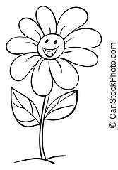 vaso, fiore, schizzo