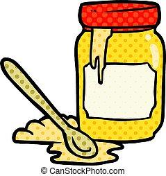 vaso miele, cartone animato
