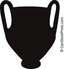 vaso, silhouette