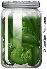 vaso vetro, capsicum