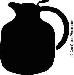 vaso, vettore, silhouette