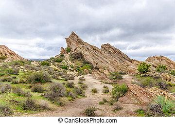 Vasquez Rocks Natural Area Park After the Rain - Vasquez...