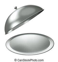 vassoio, argento, ristorazione
