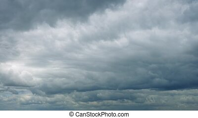 Vast Clouds Move Across The Sky - Thick cloud covering the...