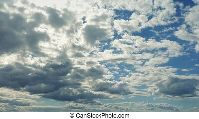 Vast Cloudscape Moving Forward - Wide scenic view of clouds...