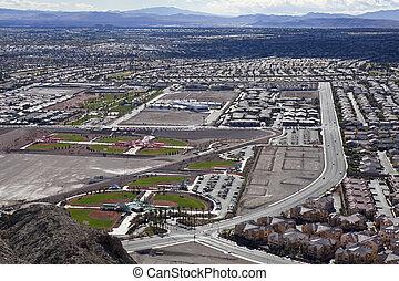 Vast Desert Suburb - Vast desert suburbs in Las Vegas. ...