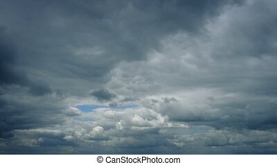Vast Dramatic Cloudscape Passing Slowly Overhead - Dramatic...