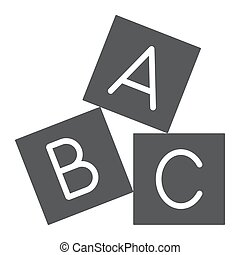 vast lichaam, blokje, alfabet, achtergrond., speelbal, alfabet, meldingsbord, vector, model, grafiek, pictogram, witte , blok, glyph