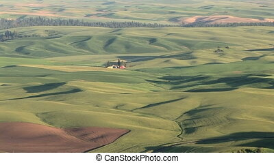 Vast Rolling Hills - Large landscape view of the Palouse, ...