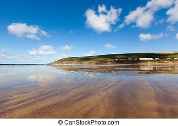 Saunton Sands - Vast stretch of sandy beach at Saunton Sands...