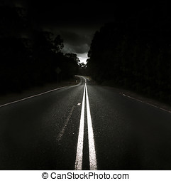 Journey Of Distance - Vast Stretch Of Straight Road Lie...
