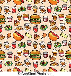 vasten, model, voedingsmiddelen, seamless