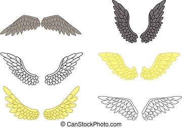 vastgesteld ontwerp, vleugel, engel, jouw