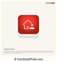 vastgoed agent, pictogram