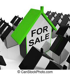 vastgoed, middelen, woning, verkoop, markt
