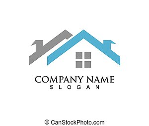 vastgoed, vector, logo