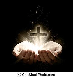 vasthouden, een, kruis