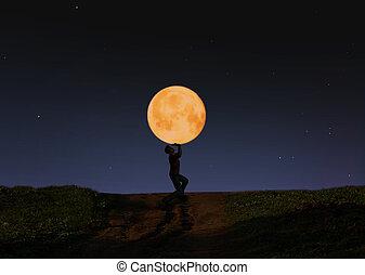 vasthouden, maan