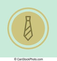 vastknopen, cirkel, vector, illustratie, pictogram