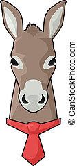 vastknopen, ezel, rood