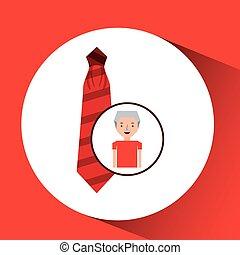 vastknopen, grafisch, cadeau, rood, man