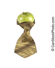 vastknopen, groene appel
