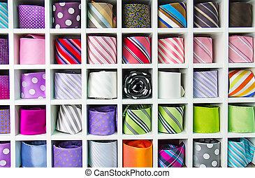 vastknopen, kleurrijke, verzameling