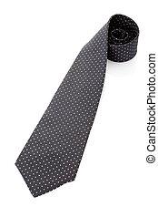 vastknopen, witte , of, stropdas