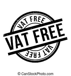 Vat Free rubber stamp. Grunge design with dust scratches....