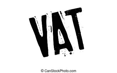 Vat rubber stamp. Grunge design with dust scratches. Effects...