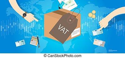 VAT Value Added Taxes concept vector illustration money