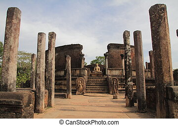 Vatadage in Sacred Quadrangle, Polonnaruwa, Sri Lanka