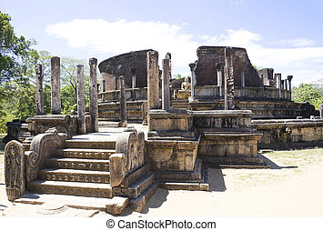 Vatadage, Polonnaruwa, Sri Lanka - Image of the ancient ...